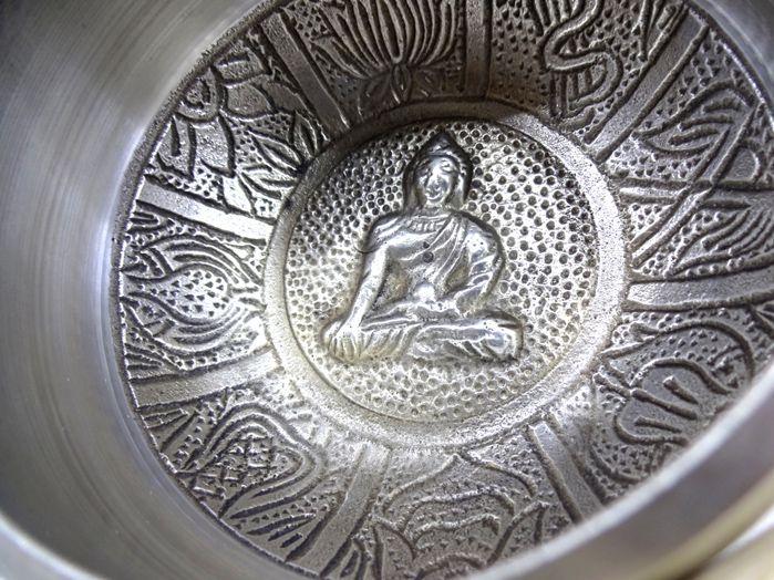 Tigela Tibetana cor Prata 10x5
