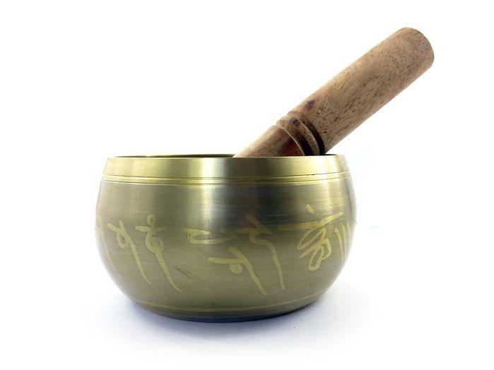 Tigela Tibetana Dourada - 11 Cm
