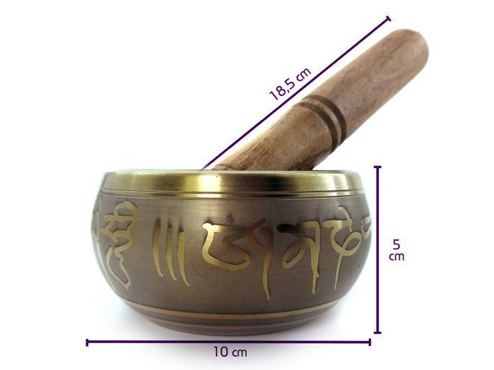 Tigela Tibetana Orin 7 Metais Sagrados - Cinza 10 Cm