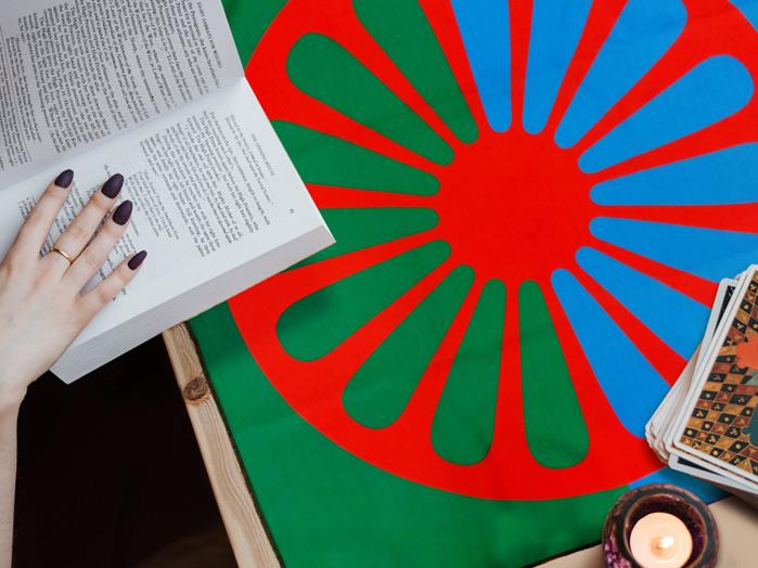 Toalha Para Tarot e Baralho Roda Astrológica e Cigana 70cm
