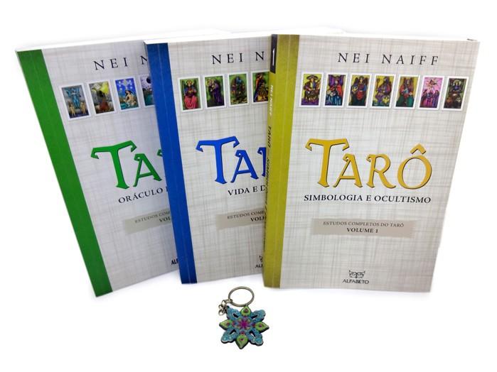 Trilogia Estudos Completos Do Tarô Nei Naiff 3 Volumes + Chaveiro Mandala