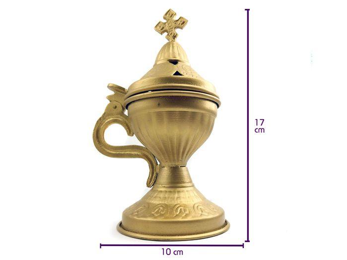 Turíbulo Dourado de Mesa  17 x 10 cm