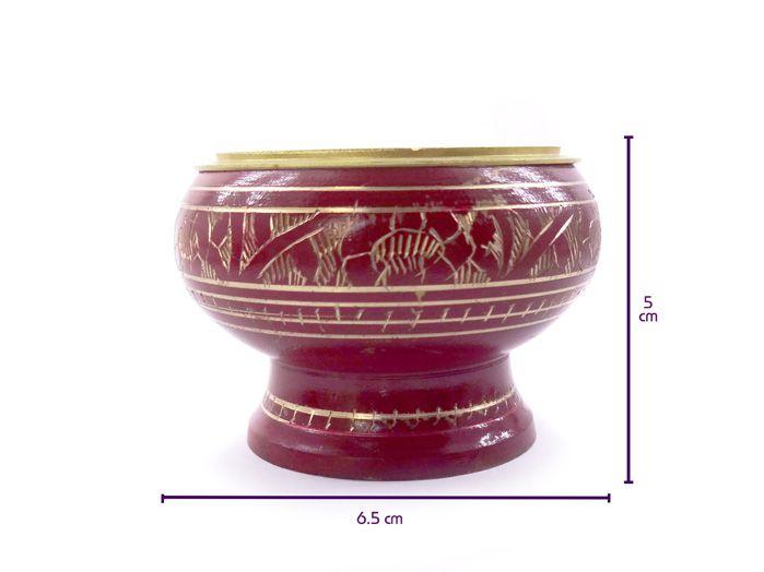 Mini Turíbulo de Mesa Vermelho 5 x 7 cm