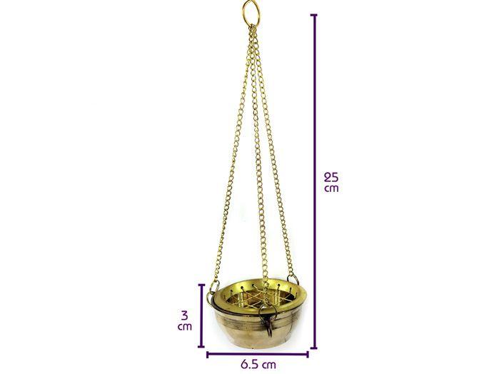 Turíbulo Incensário Defumador 6 cm