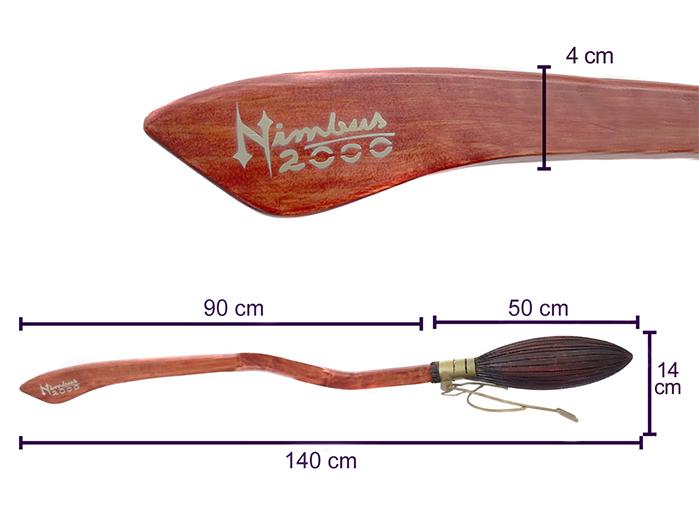 Vassoura Nimbus 2000 Harry Potter Grande (artesanal)