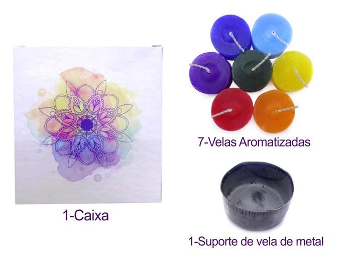 Vela Aromatizadas 7 Chakras
