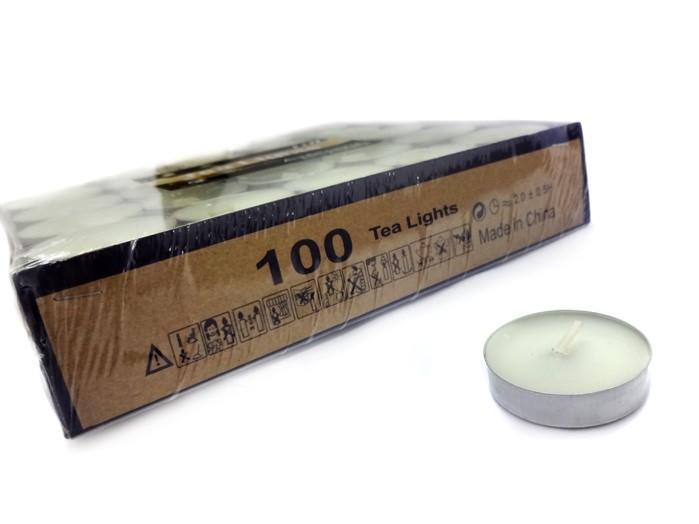 Vela para Aromatizador Branca Com 100 Velas