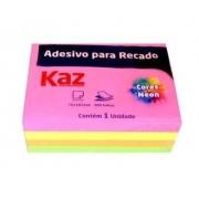 Bloco Adesivo p/ Rec 76x102mm 400fls Colors Neon Kaz