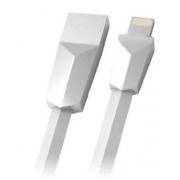 Cabo USB/Lightning 1m 2.4A Branco C3Tech CB-L170WH