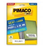 Etiquetas Pimaco A4262 25F 400 Etiquetas 33,9x99,0mm