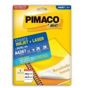 Etiquetas Pimaco A4267 25F 25 Etiquetas 288,5x200,0mm