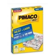 Etiquetas Pimaco A4351 100F 6500 Etiquetas 21,2x38,2mm
