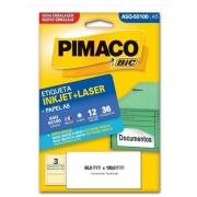 Etiquetas Pimaco A5Q-50100 12F 36 Etiquetas 50x100mm