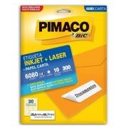Etiquetas Pimaco Carta 6080 10F 300 Etiquetas 25,4x66,7