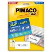 Etiquetas Pimaco Carta 6083 10F 100 Etiquetas 50,8x101,6mm