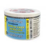 Fita Adesiva Dupla Face 18mmx30m Acrilico Transparente Adelbras 0639000017