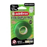 Fita Adesiva Dupla Face Transparente 24mmx2m Fixa Pro Adelbras