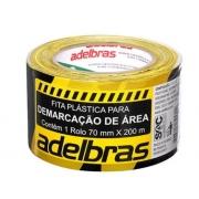 Fita Demarcaçao de Area Zebrada 70mmx200m Adelbras 0686000001