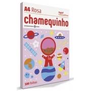 Papel Sulfite A4 75g 100fls Rosa Chamequinho Color