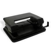 Perfurador de Papel Metal 20 Folhas Preto Masterprint MP 801