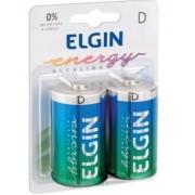 Pilha Grande D Alcalina Blister c/ 2 Elgin 82157