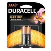 Pilha Palito AAA Alcalina c/ 2 Duracell
