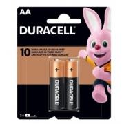 Pilha Pequena AA Alcalina c/ 2 Duracell