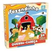 Quebra Cabeça 30 Pçs Madeira Fazendinha - Nig 0424
