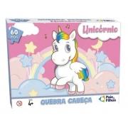Quebra Cabeça 60pçs Unicornio Pais e Filhos 0997