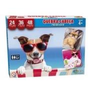 Quebra Cabeça Progressivo 24/36/48 Pçs Pets Pais e Filhos 2979