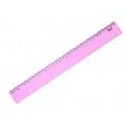 Regua 30cm Flexivel Rosa Waleu