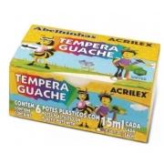 Tinta Guache 15ml 6 Cores Acrilex 02020