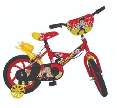 Bicicleta Aro 14 Masculina Bike da Turma Vemelha Unitoys 1501  - Mundo Mágico