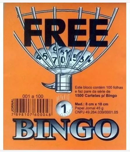 Bloco Bingo 100 fls Jornal Medio  - Mundo Mágico