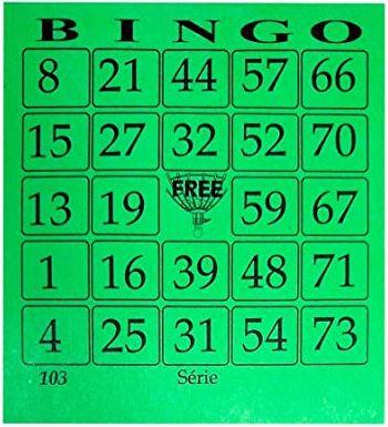 Bloco Bingo 100 Fls Medio 11cmx10cm Cor Verde  - Mundo Mágico
