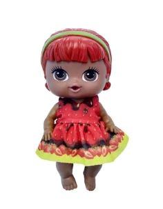 Boneca Frutinhas Morango c/ Chocolate Cotiplas 2308  - Mundo Mágico