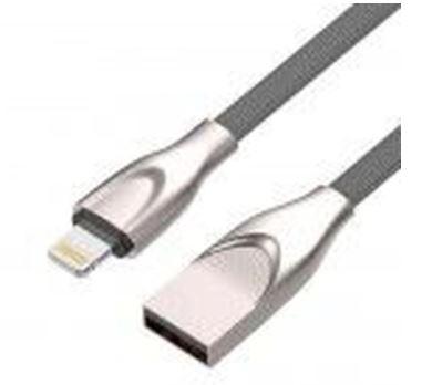 Cabo USB/Lightning 1m 2.4A Fast Charger Cinza C3Tech CB-L180GY  - Mundo Mágico
