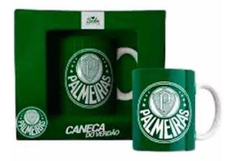 Caneca Porcelana 330ml Palmeiras Sude PAL003/005/006-CAN  - Mundo Mágico