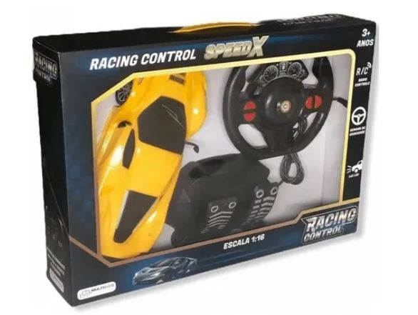 Carro R/C Racing SpeedX Amarelo MultiKids BR1143  - Mundo Mágico
