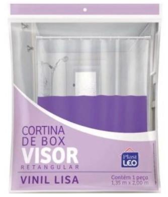 Cortina Vinil p/ Box 1,35x2,00m Lisa Plast Leo 621  - Mundo Mágico