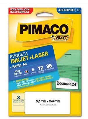 Etiquetas Pimaco A5Q-50100 12F 36 Etiquetas 50x100mm  - Mundo Mágico