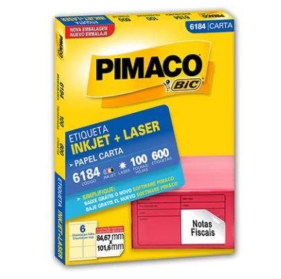 Etiquetas Pimaco Carta 6184 100F 600 Etiquetas 84,67x101,6mm  - Mundo Mágico