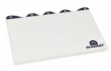 Indice A/Z 5x8 p/ Fichas Branco Acrimet 633.0  - Mundo Mágico