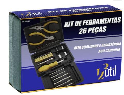 Kit de Ferramentas c/ 26 Peças 123 Util FR223  - Mundo Mágico