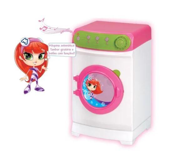 Maquina de Lavar Super Eletronica Meg Magic Toys 8045  - Mundo Mágico