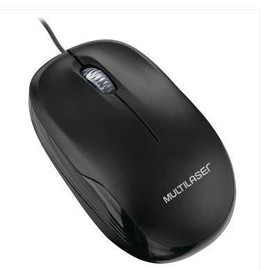 Mouse Optico USB Box Preto Multilaser MO255  - Mundo Mágico