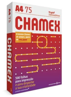 Papel Sulfite A4 75g 500fls Branco Chamex Office  - Mundo Mágico