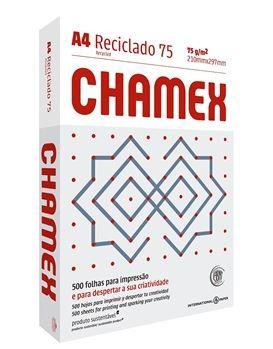 Papel Sulfite A4 75g 500fls Reciclado Chamex Eco   - Mundo Mágico