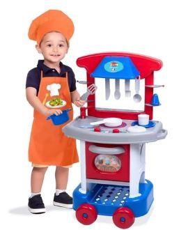Play Time Cozinha Menino Cotiplas 2421  - Mundo Mágico
