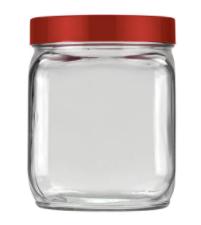 Pote de Vidro Quadrado 750ml Liso Invicta 101528552026  - Mundo Mágico